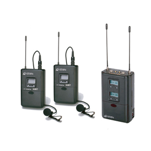 AZDEN 325LT UHF ON-CAMERA BODY-PACK STYSTEM